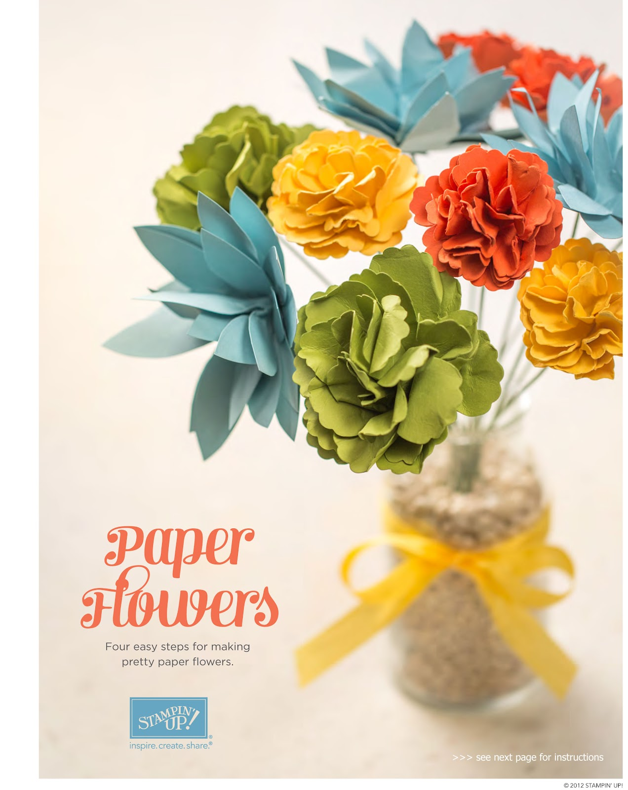 Stamp a blessing stampin up paper flowers tutorial you might also like mightylinksfo Choice Image