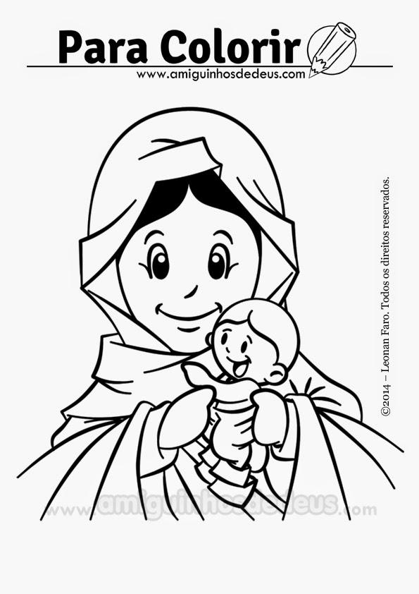 Mãe, Rainha e Vencedora três vezes admirável de Schoenstatt desenho para colorir