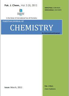 Pakistan Journal of Chemistry