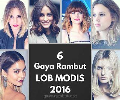 gaya rambut lob modis wanita 2016_203165987