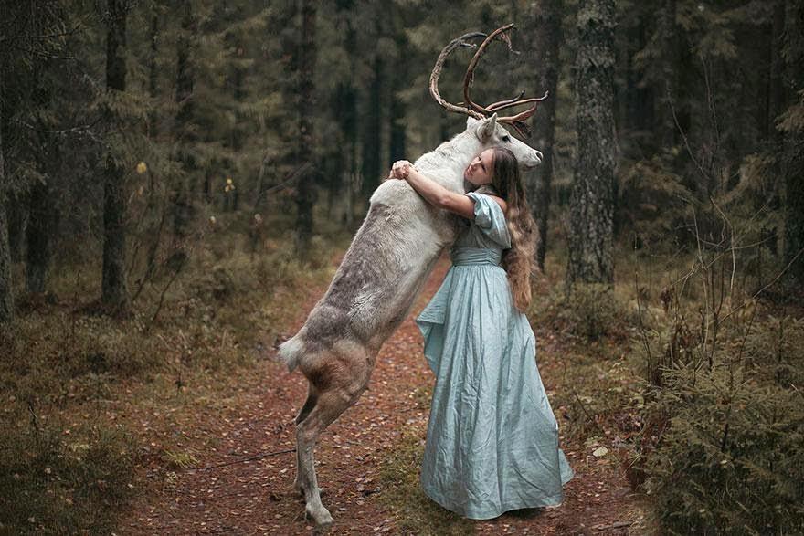 katerina plotnikova sesion de fotos con hermosos animales