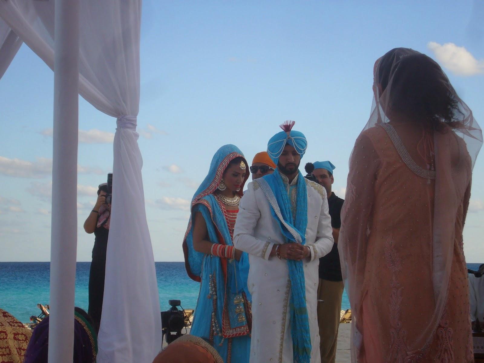 Sikh Beach wedding cancun Mexico