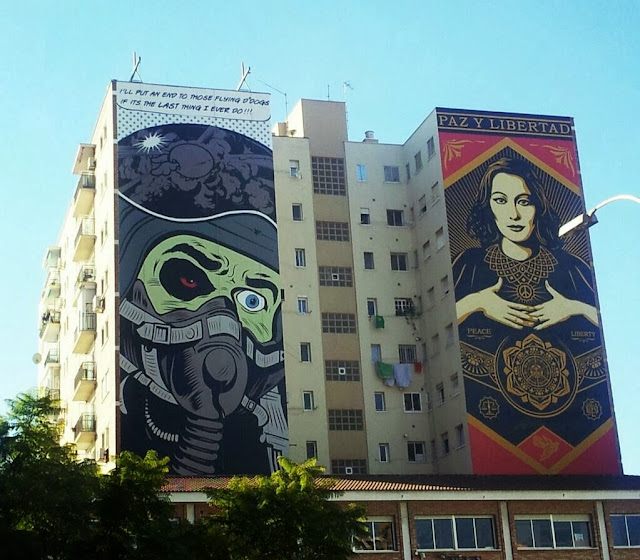 Street Art By British Muralist D*Face For The Maus Malaga Urban Art Event In Spain. 9