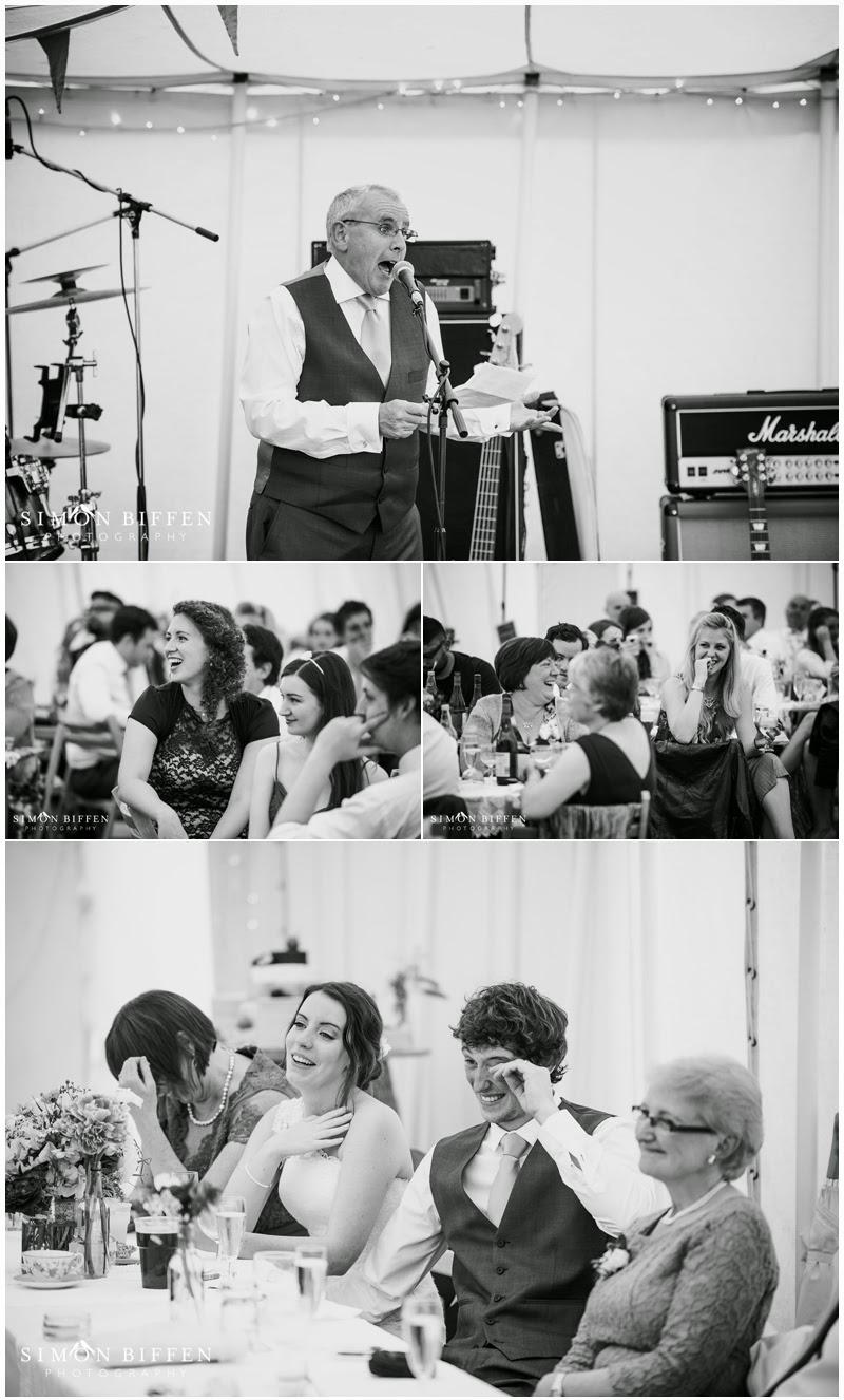 Roughmoor Farm wedding photography speeches