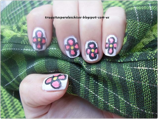 manicura flores