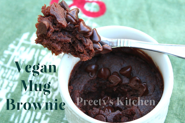 Preety S Kitchen Vegan Mug Brownie Eggless Single