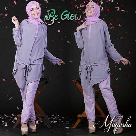 Style Fashion Baju Muslim untuk Wanita Kurus Model Baru  RYS NEBULA