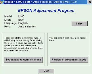 Resetter Epson L100
