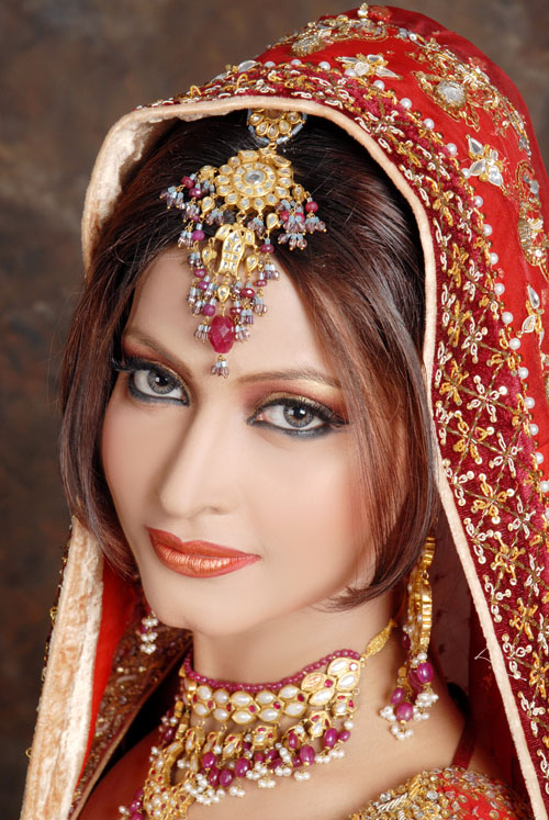 Beautiful Indian dress for Bridal Wedding . Heavy (Makeup) Indian