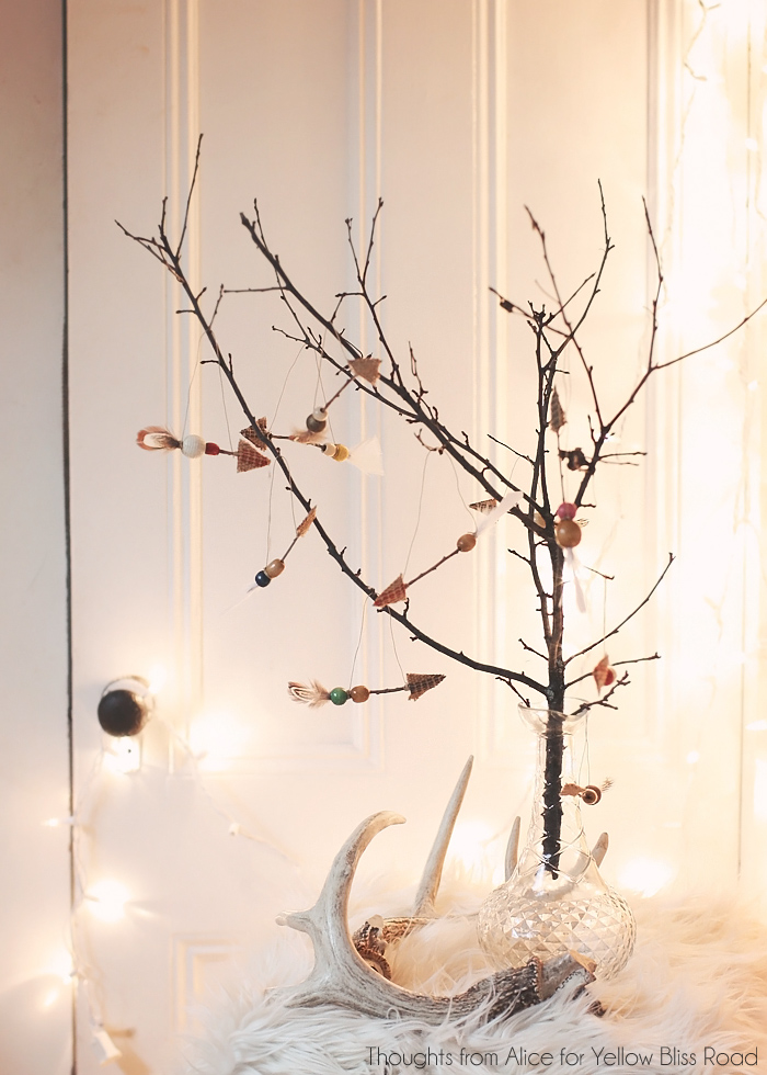Rustic cabin christmas decorations - Rustic Boho Arrow Ornaments