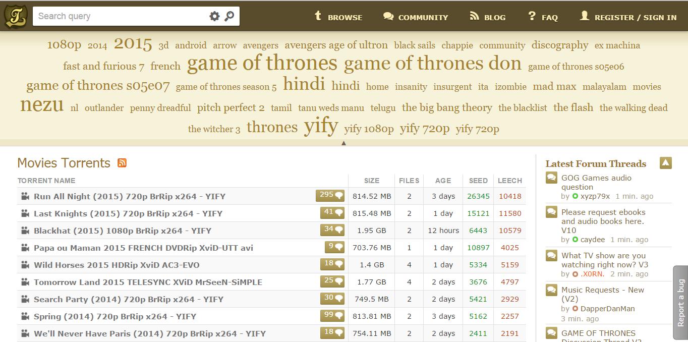 bittorrent download movie site