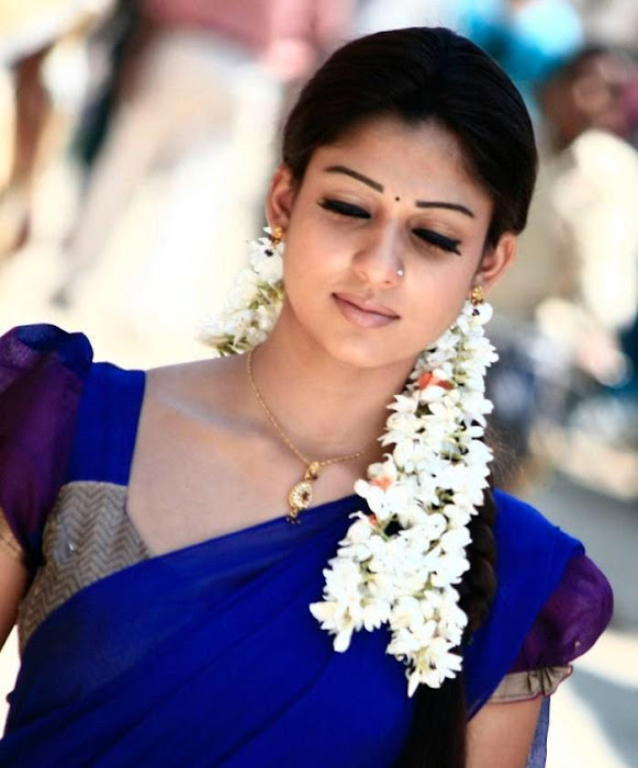 nayantara in half saree hot photoshoot