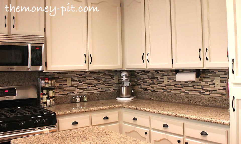 How Much To Install Backsplash Installing A Pencil Tile Backsplash And Cost Breakdown  The Kim .