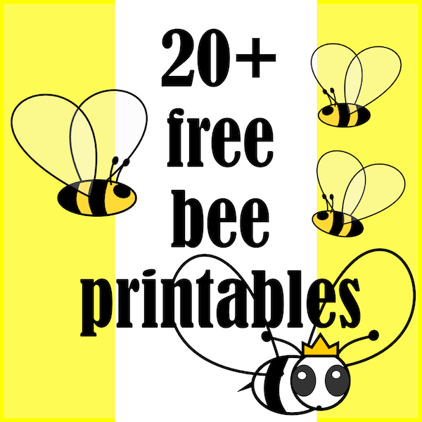It's just a photo of Crafty Honey Bee Printables