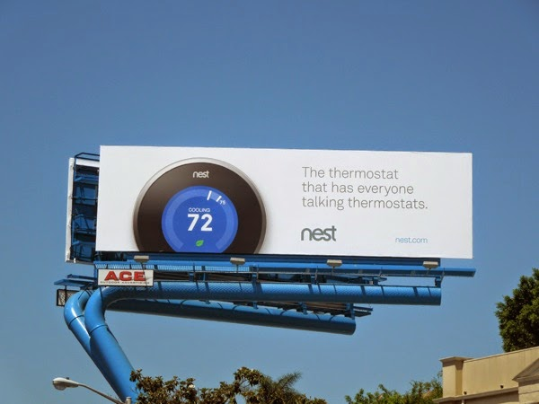 Nest everyone talking thermostats billboard