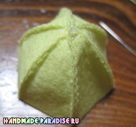 Подвески-брелоки лимоны из фетра