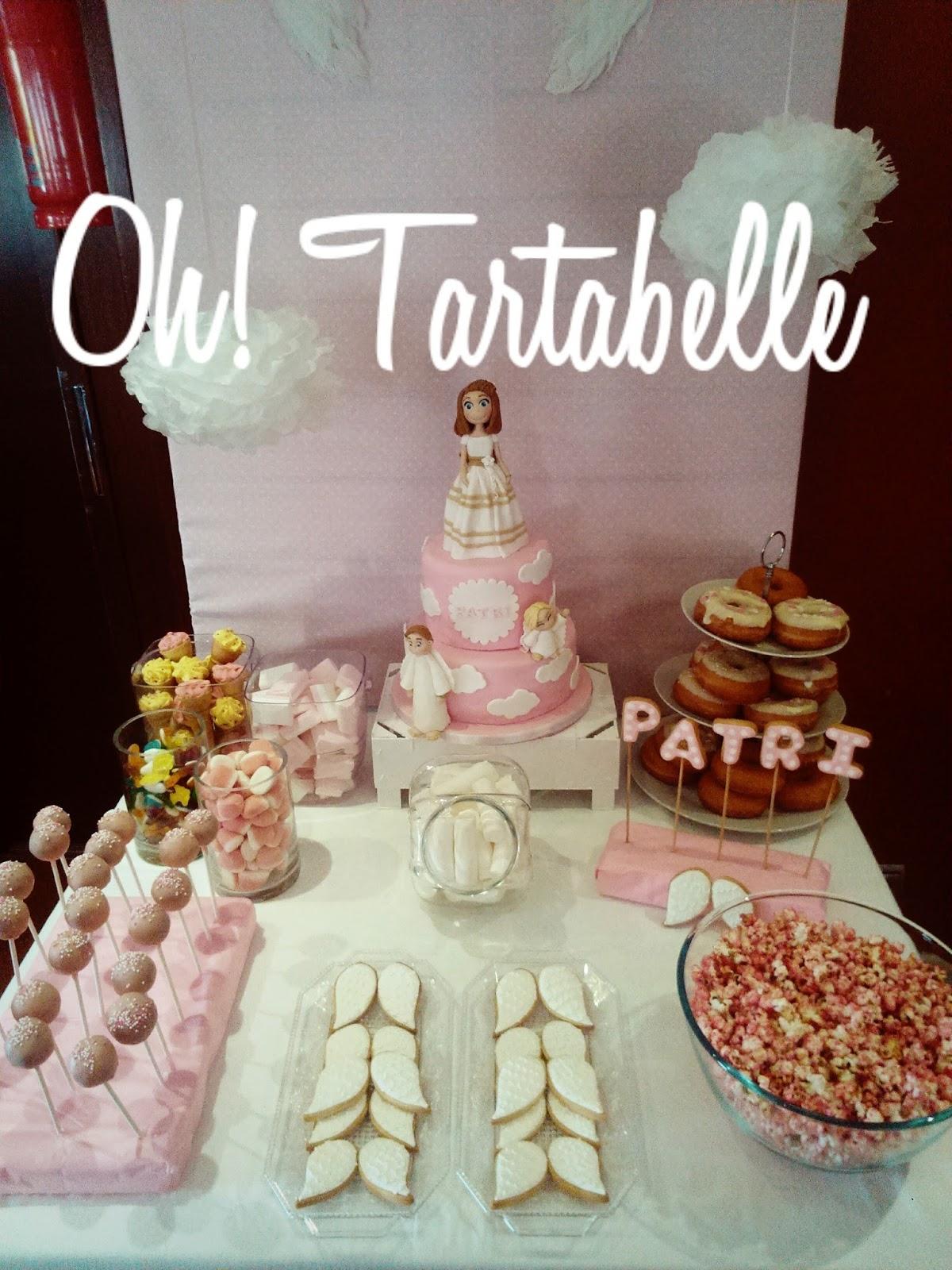 Oh tartabelle mesas dulces y tartas para comuniones for Mesas dulces comunion nina