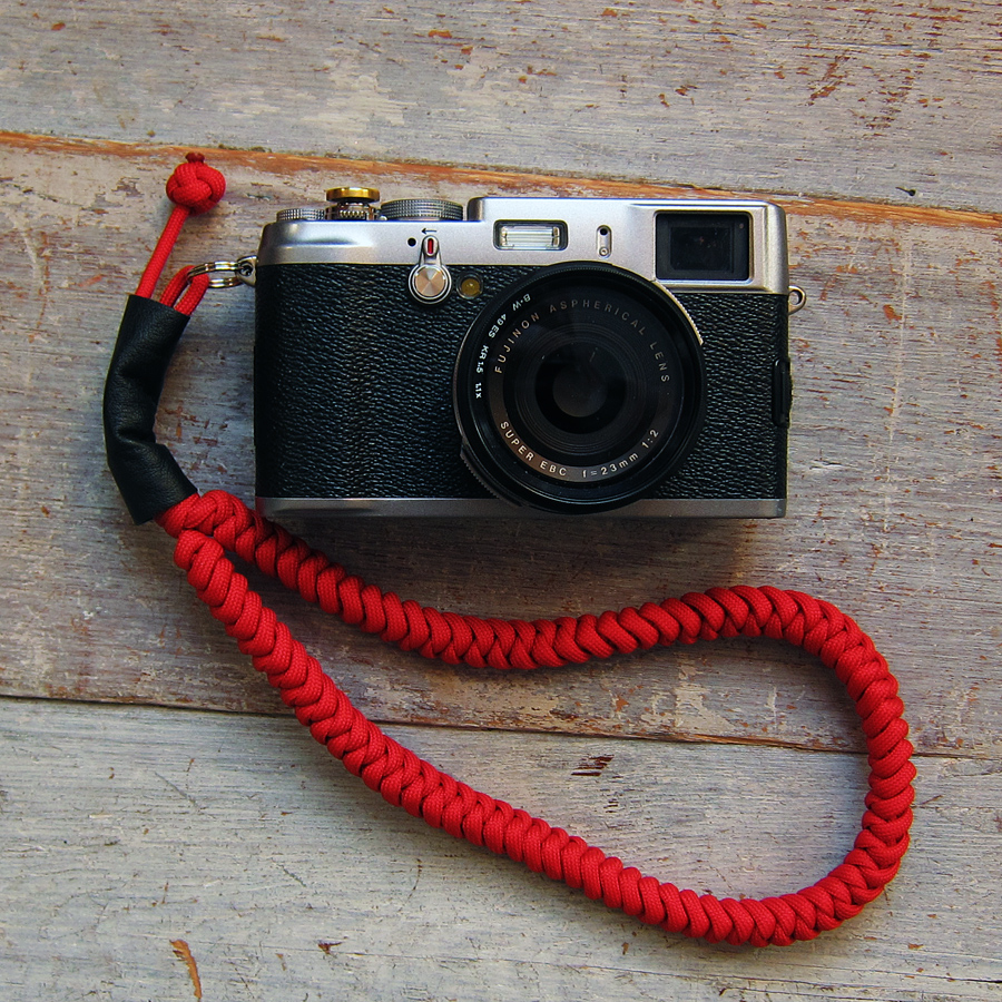 Fujifilm X-100 with Red Cord Wrist Strap by Tim Irving