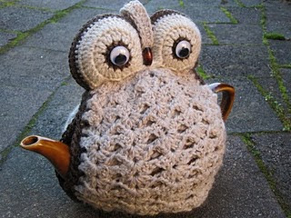 Free Knitting Pattern For Owl Tea Cosy : Owl Tea Cosy