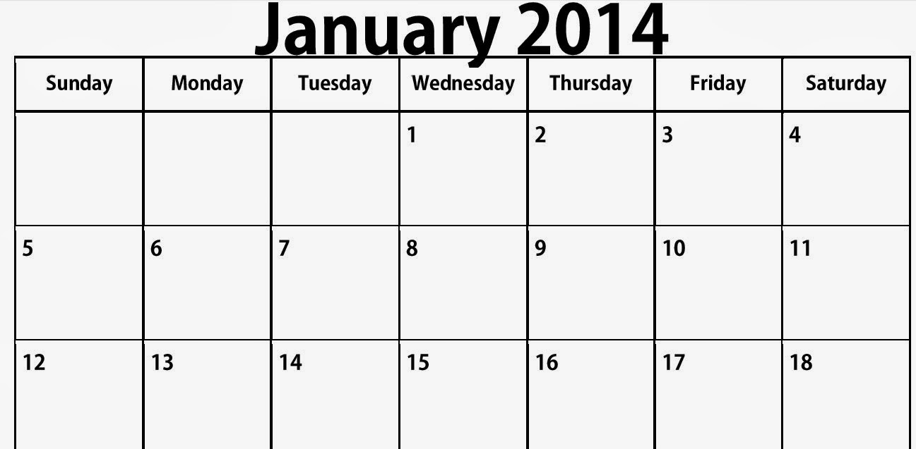 December 2013 And January 2014 Calendar Printable
