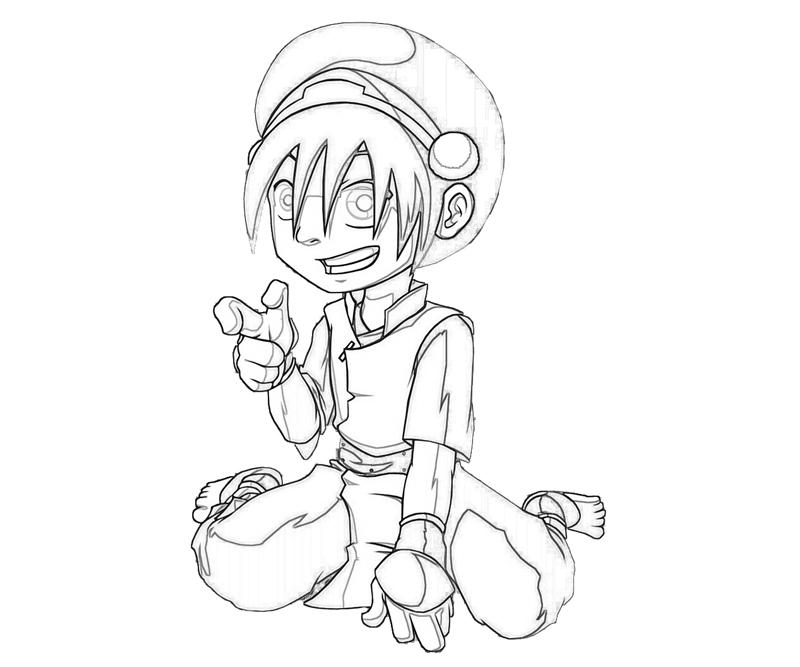 avatar-toph-character-coloring-pages