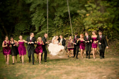 Sanders Estate Swing - A perfect photo with the bride and groom