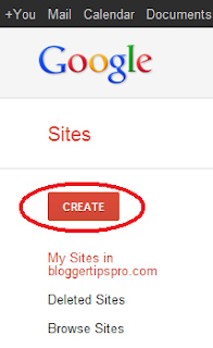 Create a Google Sites page