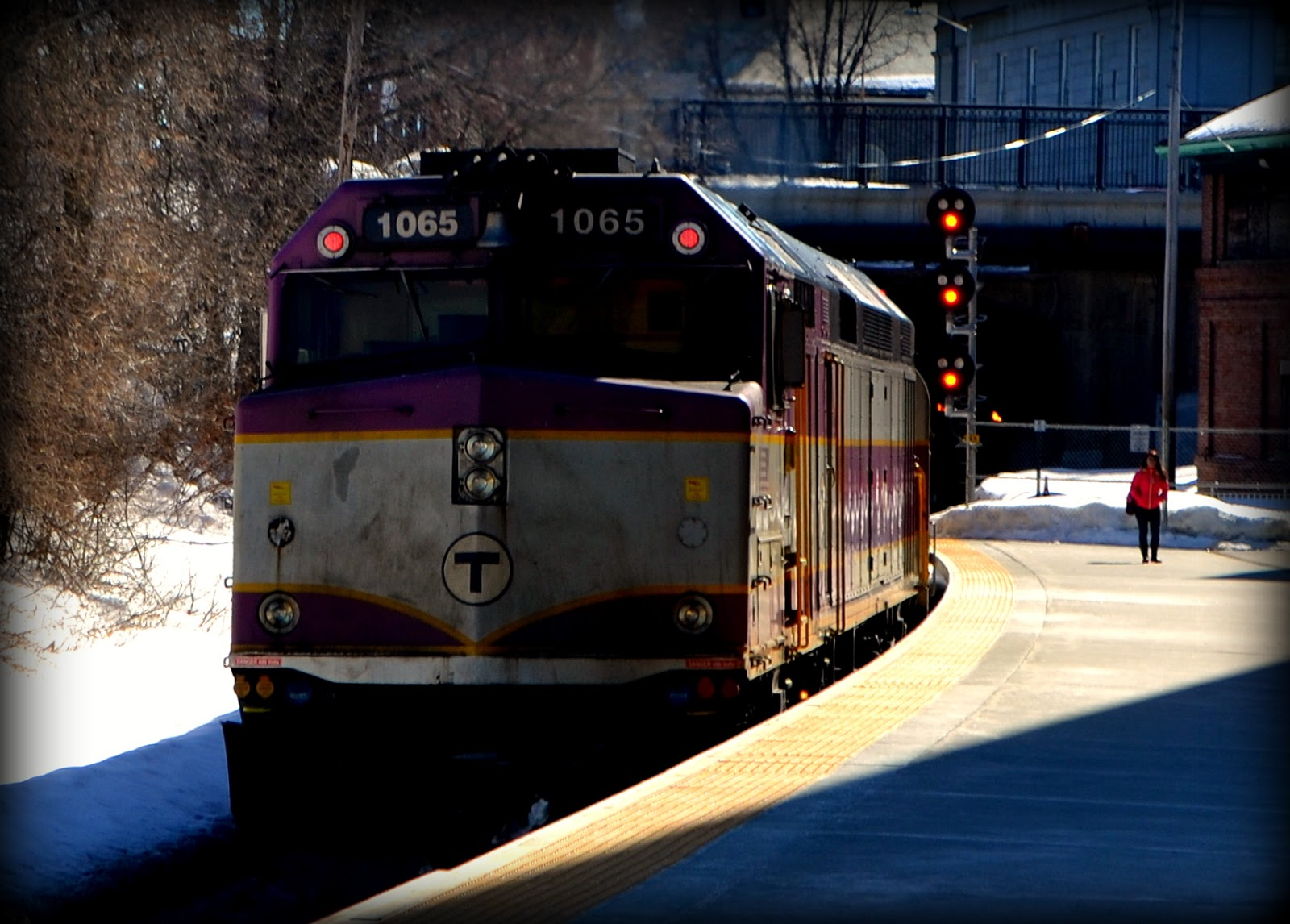 MBTA, Commuter Rail, Station, Salem, Massachusetts, locomotive