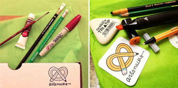 Artsnacks! - a monthly subscription for surprise art in the post!