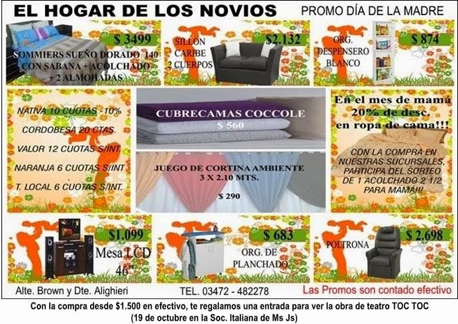 ESPACIO PUBLICITARIO : EL HOGAR DE LOS NOVIOS
