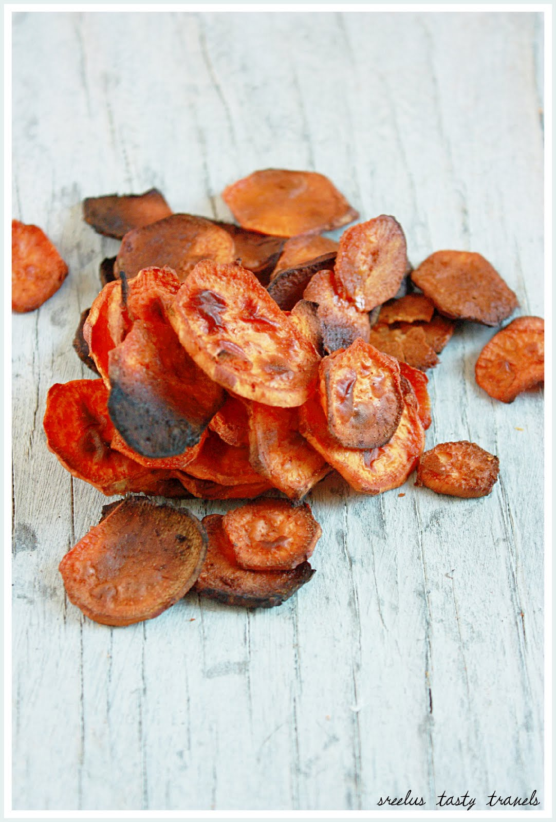 Sreelus Tasty Travels: Baked Sweet Potato Chips - Sweet ...