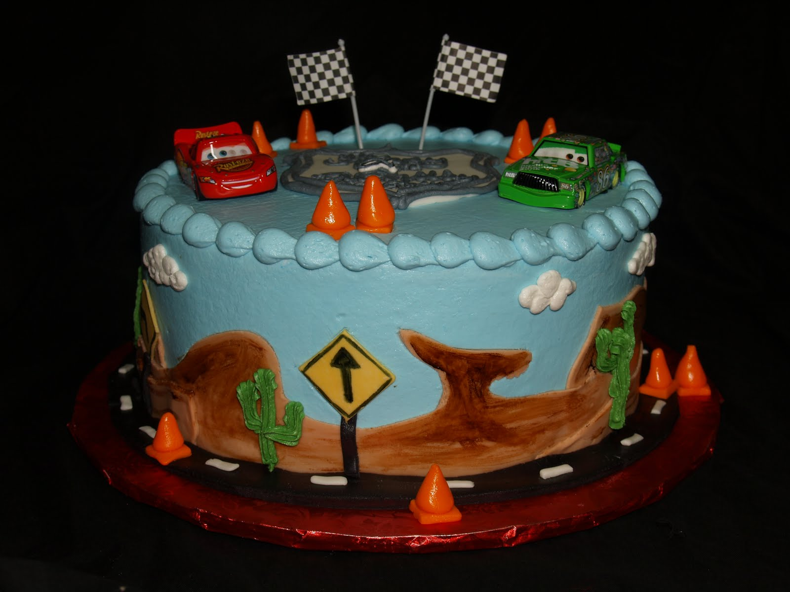 Cake Designs Disney Cars : Becky s Sweets: Disney Cars cake