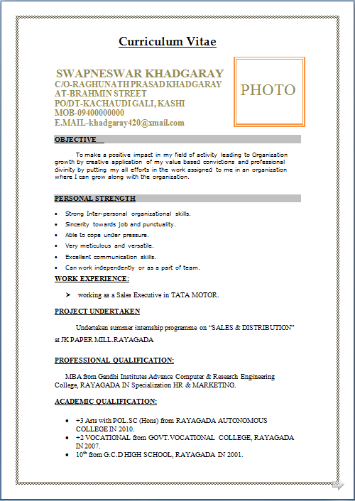 resume blog co  mba marketing  u0026 sales  fresher resume sample free download in word doc