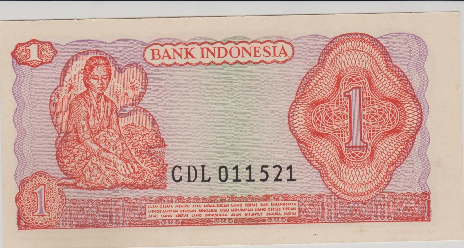uang kuno Seri Soedirman tahun 1968 Pecahan 1 rupiah