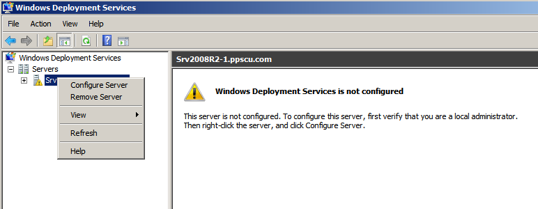 Configure Windows Deployment Services
