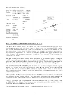 AIRPROX UFO REPORT No 2012175 (1 of 3)