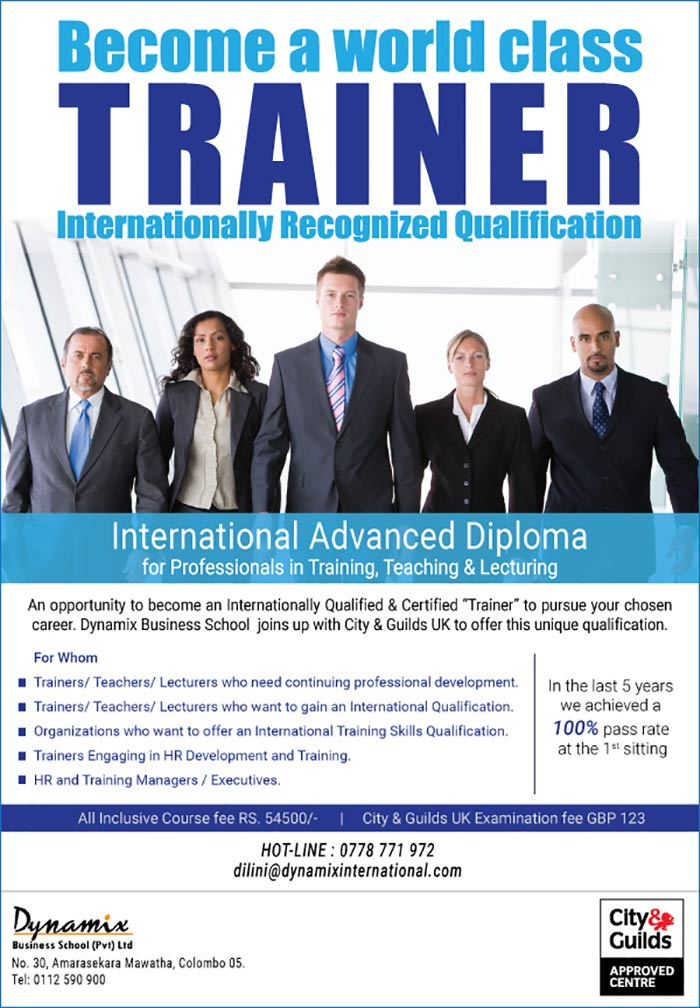 Dynamix International Consultancy (Pvt) Ltd is a 10 year old Company has rapidly established itself as a renowned institution in providing high quality Human Resources, professional development and training service solutions. Dynamix International Consultancy is the franchise and license holder for FranklinCovey Sri Lanka & Maldives.
