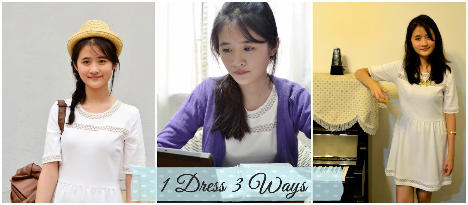 1 white dress 3 ways