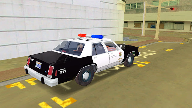 Ford LTD Crown Victoria Interceptor LAPD 1985 GTA Vice City