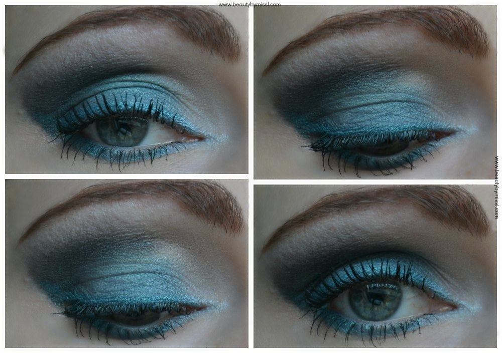 Teal smoky eye done with Avon Metallics 8-in-1 Eye Palette