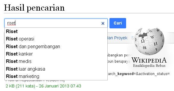 riset keyword di Wikimedia