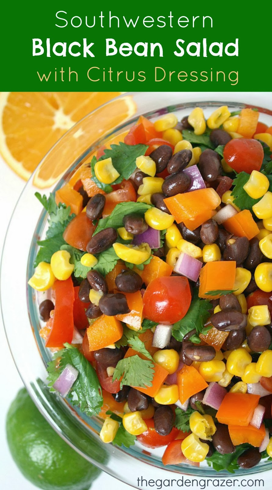 Southwestern Bean Salad with Black Beans, Black-Eyed Peas, Peppers