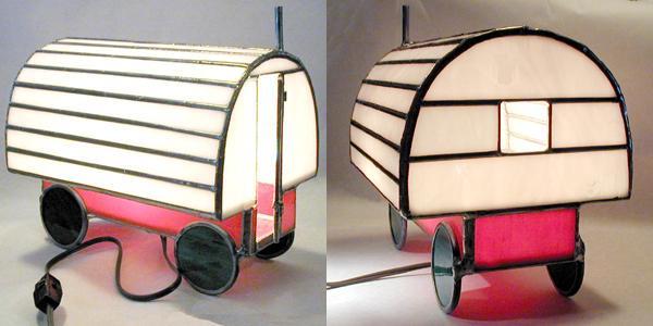 Perfect Sheep Wagon Glass Artstained Glass Lights With Sheep Wagon 2.
