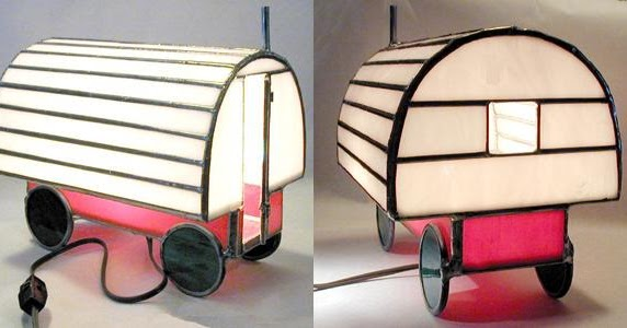 Relaxshackscom Sheep Wagon Glass ArtStained Glass Lights