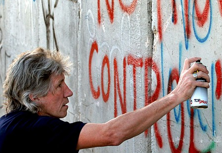 Roger Waters at the Israeli West Bank Barrier