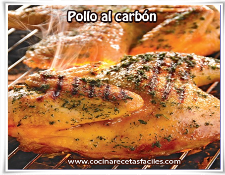 Recetas de pollo, pollo al carbón