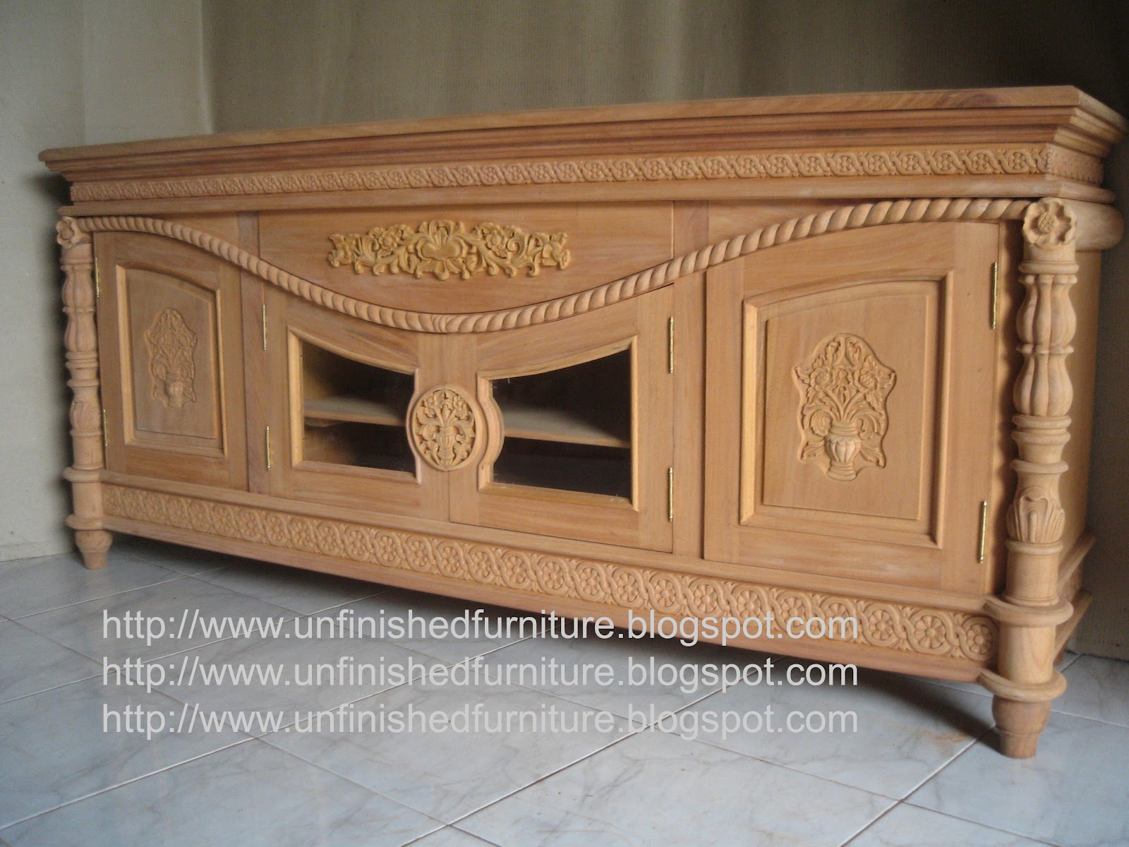 Unfinished Mahogany Furniture Unfinished Classic Furniture Cordon Tallado Rope Carved Sideboard