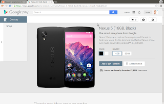 Google Play Store - Order Nexus 5