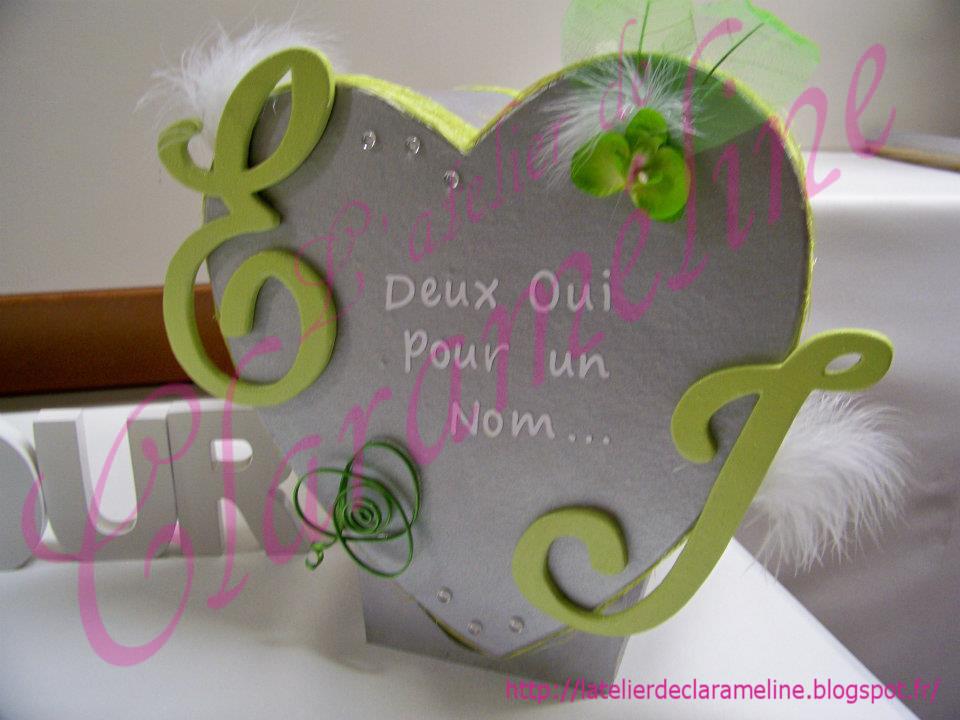 urne mariage coeur argent et vert anis l 39 atelier de claram line. Black Bedroom Furniture Sets. Home Design Ideas