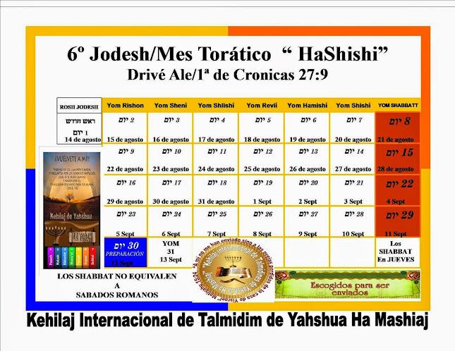 CALENDARIO 6º JODESH/MES